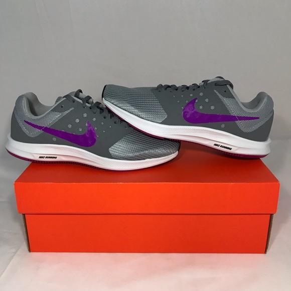 size 40 4435a 67b71 NIKE Downshifter 7 Grey Purple Womens Running Shoe